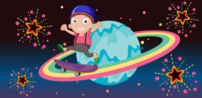 boy on a planet