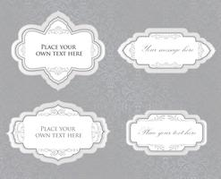 Calligraphic floral frame. Page decor element. Card border set
