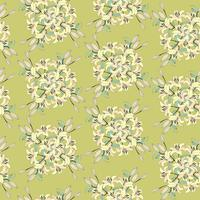 Floral seamless background. Flower bouquet background vector