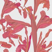 Floral pattern sans soudure. Fond de tourbillon de fleurs.