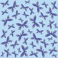 Butterfly seamless pattern. Summer holiday wildlife background. vector