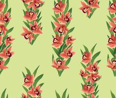 Floral seamless pattern. Flower ohrid bouquet border.