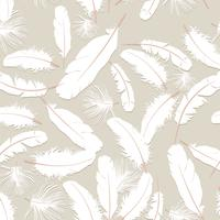 Feather pattern. White feathers on gray background. natural pillow seamless texture.