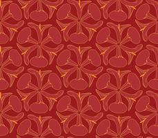 Abstract oriental floral seamless pattern. Flower geometric ornamental background.