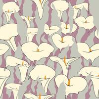 Motivo floreale senza soluzione di continuità. Sfondo di fiori di cale.