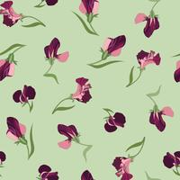 Floral seamless pattern. Flower swirl background. Floral ornamen