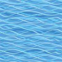 Ocean wave seamless pattern. Wavy marine water background. vector