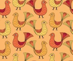 Bird pattern, Livestock seamless ornamental background.