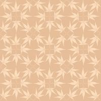 Abstract floral pattern Leaves swirl geometric seamless background.