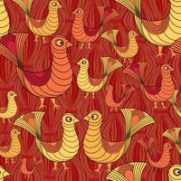 bird pattern. farm bird pattern. Livestock ornament.