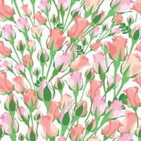 Abstract floral tile pattern. Garden flower background