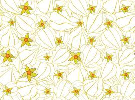 Astratto motivo floreale senza soluzione di continuità. Ornamento di ciliegie invernali