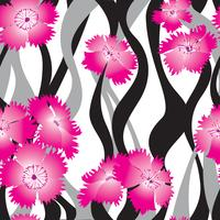 Floral seamless pattern. Flower background. Ornamental garden