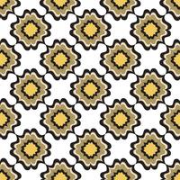 Seamless flower pattern. Abstract floral ornament. Oriental Texture