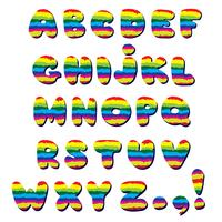 Alphabet. Kid style line latin letter characters alphabet set