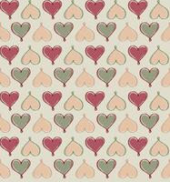 Love heart doodle seamless pattern Valentine day holiday tile ornament