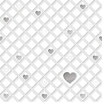 Love heart seamless pattern Valentine day holiday geometric ornament