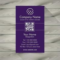 Cartão de visita violeta
