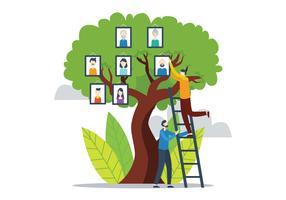 Árbol de familia vector