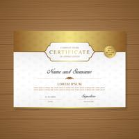 Certificate and diploma of appreciation luxury and modern design template vector illustration