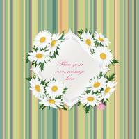 Flower bouquet Floral frame Flourish summer greeting card background