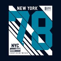 New York City Typografieontwerp, grafisch T-shirt