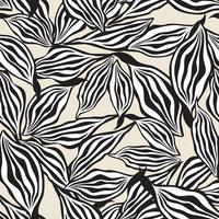 Floral pattern. Leaves seamless background. Ornamental garden