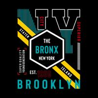 NY Brooklyn Typography Design, Graphique de T-shirts