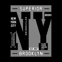 Design tipografia NY Brooklyn, per grafica t-shirt