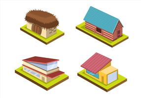 Isometric House on White Background