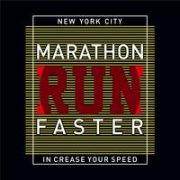 Athletic sport marathon increase your speed typography, t-shirt graphics