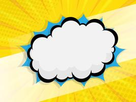 blank speech bubble comic book vector background