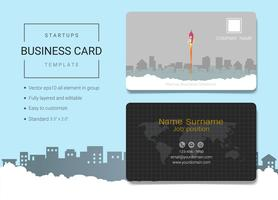 Startup business name card design template.