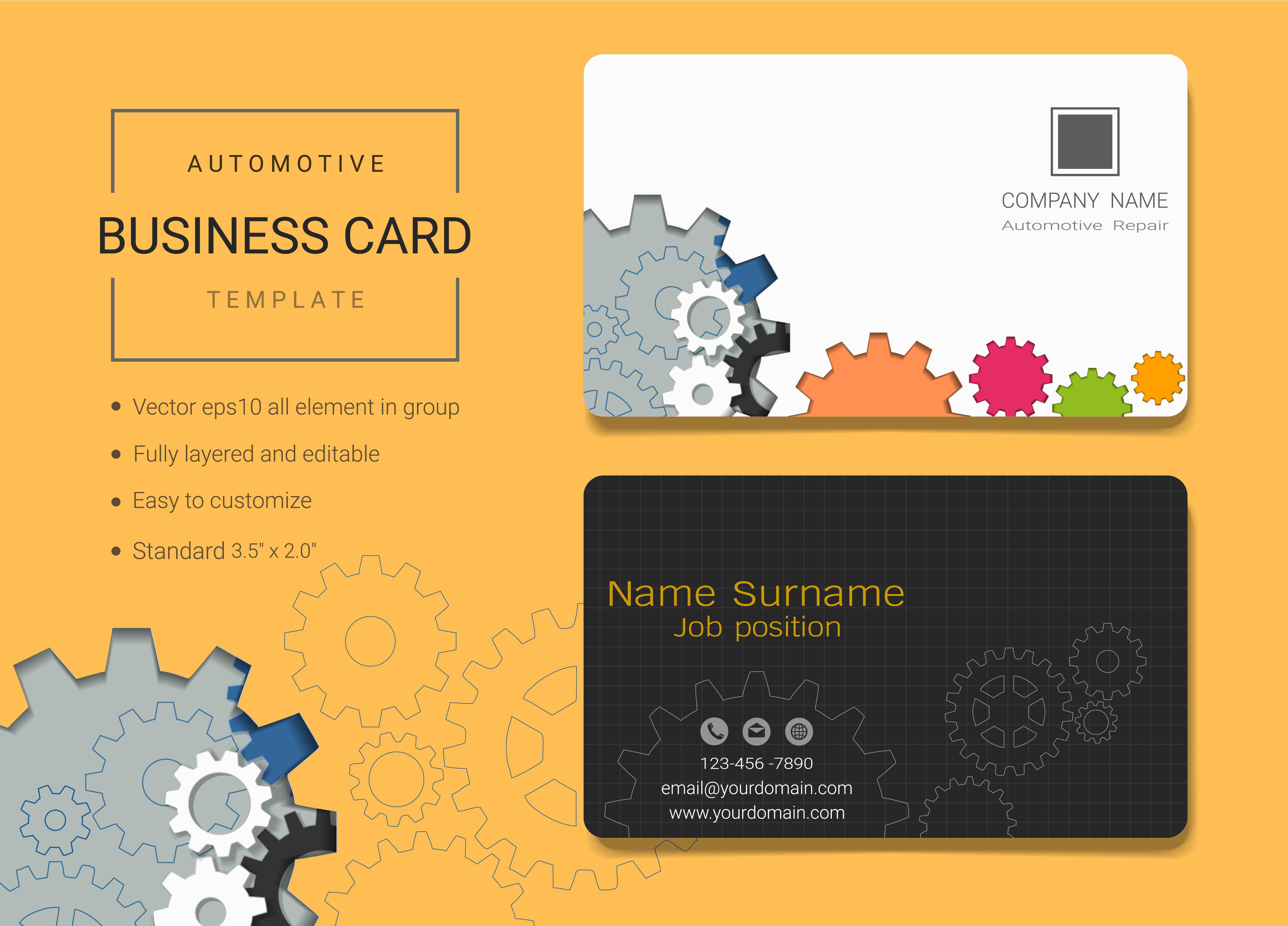Automobil Visitenkarte Designvorlage Download Kostenlos