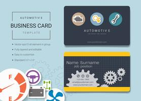 Automotive business name card design template.