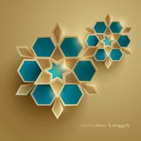 Paper graphic of islamic geometric art