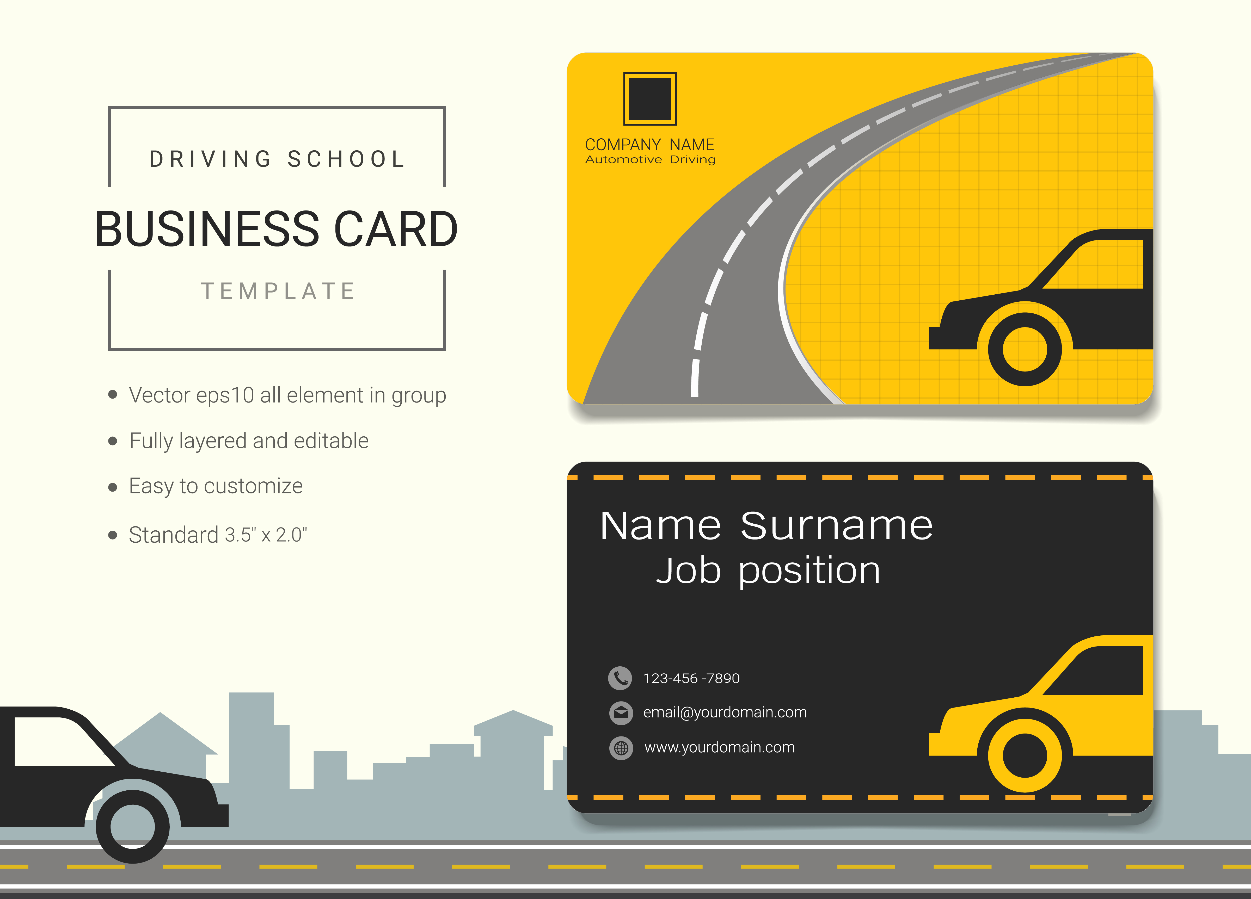 Business Name Card Design Template