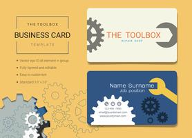 Toolbox business name card design template.