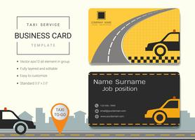 Taxi service business name card design template.