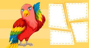 disegno a tema di uccello per la scrittura