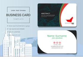 UAE Abstract business name card design template.