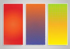 Halftone dot banner designs vector