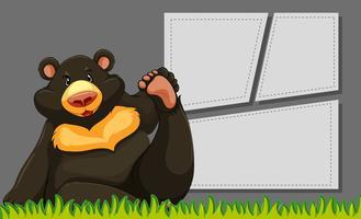 Bear on blank template