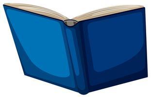 Geïsoleerde blauwe boek witte achtergrond