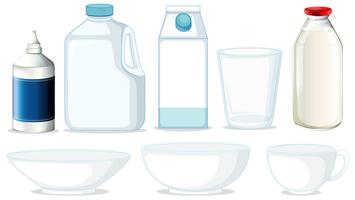 Set of different containers vector