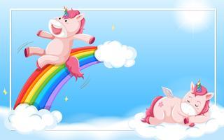 Unicornio en el cielo