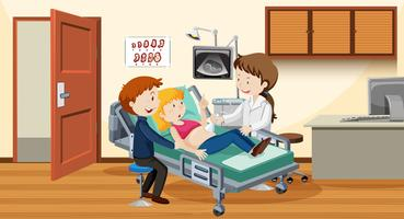 Couple ultrasound at hospital