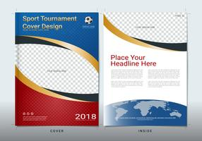 Cover book design template with space for sport event.