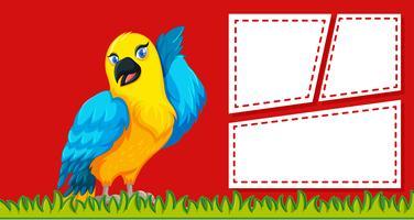 Un pappagallo sul modello di nota vuota