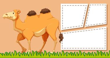 A camel on blank note
